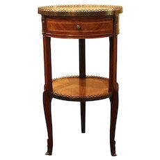 Small Gueridon Table with Drawer and Shelf