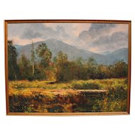"John Clifford Pellew painting ""Mountain Meadow"""