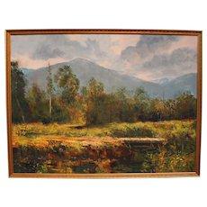 "John Clifford Pellew painting ""Mountain Meadow"""