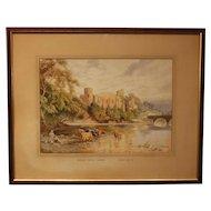 Watercolor of Barnard Castle