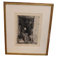 """La Vieille aux Loques"", James Abbot McNeill Whistler Etching"