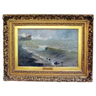 """""""Stormy Day in the Day of Naples"""" by Aprea Painting"""
