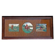 English Hunt Scene Triptych