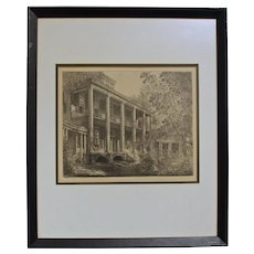 """""""The Hayes"""" Etching by Louis Orr"""
