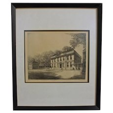 "Louis Orr ""Tryon's Palace"" Etching"