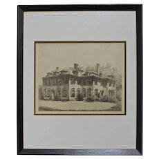 """""""The Stanley House"""" Etching by Louis Orr"""