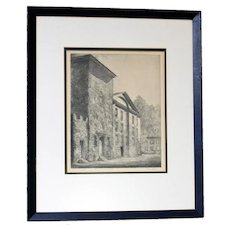 "Orr Etching of ""Masonic Temple, New Bern, NC"""