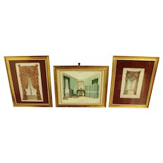 Collection of French Draperies Lithographs