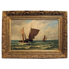Late 19th Century Oil on Canvas, Seascape, Dutch, Unknown Artist.