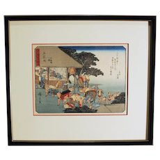 """Station 45, Ishiyakushi"" from 53 Stations of the Tokaido, Woodblock Print by Utagawa Hiroshige"