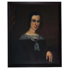 American Painted Portrait of a Widow, c. 1840