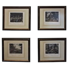 """""""The Election"""" by William Hogarth- Set of 4 Prints"""