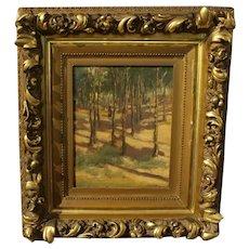 """""""Walk in the Woods"""" Oil on Artist's Board"""