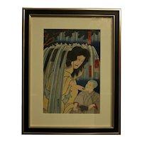 """Kabuki Play Scene"", Knniyoshi Utagawa (1797-1861), Woodblock Print"