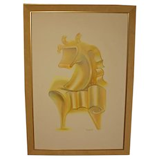"""Golden Horse"" Oil on Canvas"