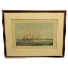 """The Lady Kennaway Off Margate, Tho.s Surflen. Esq.re Commander, Homeward Bound 1827"", Print"