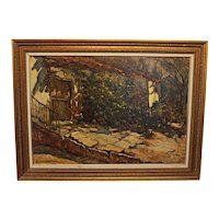 """Dappled Sun,"" Oil on Canvas Painting"