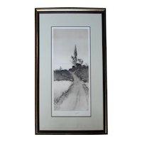 "Late 19th Century Print ""Village Outskirts"" by Edward Loyal Field"