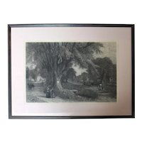 "1878 Print ""The Village Elms"" by Albert Fitch Bellows"