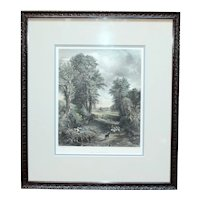 """19th Century Print """"The Corn Field"""" by Charles Cousen"""