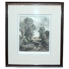 "19th Century Print ""The Corn Field"" by Charles Cousen"