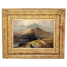 c.1900 Landscape Oil Painting of Cader Idris, Wales