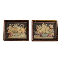 Pair of 17th Century Tempera on Velum Still Life Paintings by Octavianus Monfort