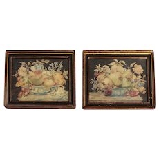 Pair of 17th Century Tempera on Velum Still Life Paintings by Octavianus Monfort