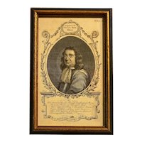 "18th Century Print ""Admiral Robert Blake, The Naval History of Great Britain"" by Frederic Hervey"