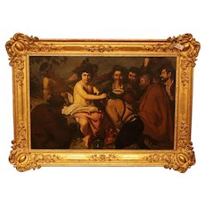 Framed Painting of Bacchus in 19th Century Frame