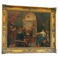 """""""The Tapestry Weavers"""" 19th Century Copy of the Velazquez"""