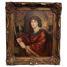 "Copy of ""Sybilla Palmifera"" Oil on Canvas"