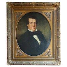 Mid-19th Century Original Oil Painting American Portrait