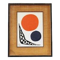 """Composition"" Original Color Lithograph by Alexander Calder"