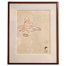 """Chinese Print from """"Child with Cricket & Cage"""""""