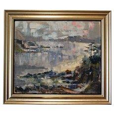 """Coastal New Zealand"" Oil on Board by Cherie McLauchlan"