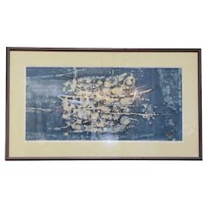"Japanese Woodblock Print ""Drifting B"" by Joichi Hoshi"