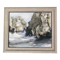 """The Rocky Coast"" Oil on Canvas by Douglass Ewell Parshall"