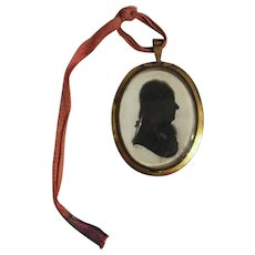 Silhouette of a Gentleman Signed by Miers