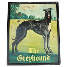 19th Century Pub Sign: The Greyhound