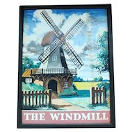 """""""The Windmill"""" metal pub sign"""