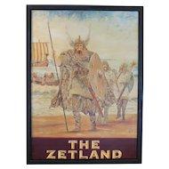 """""""The Zetland"""" Pub Sign"""