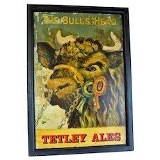"""""""The Bulls Head"""" at """"Tetley Ales"""" Pub Sign"""