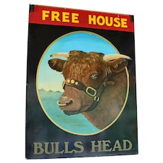 "English Pub Sign for ""The Bulls Head"""