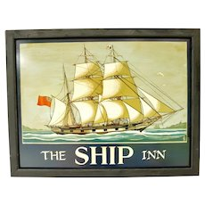 "English Pub Sign for ""The Ship Inn"""