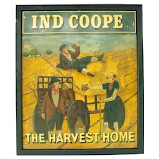 "English Pub Sign for ""the Harvest Home"""
