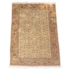 Late 20th Century Turkish Silk Area Rug
