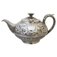 George III Repoussé Tea Pot