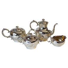 A sterling silver tea & coffee service