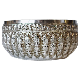 A Thai hand worked silver bowl